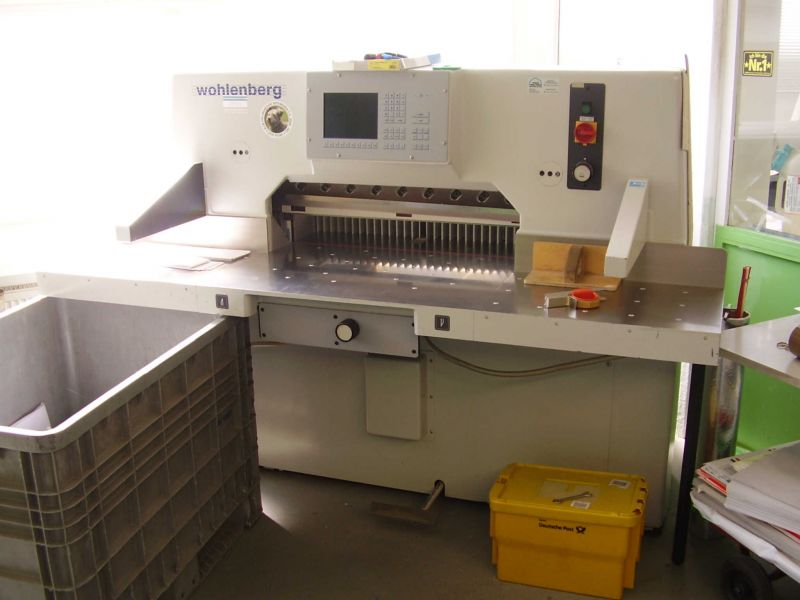 Image of used Wohlenberg 92 guillotine