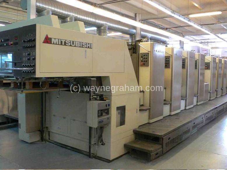 Image of Used Mitsubishi Diamond 3000-R-8 Eight Colour Printing Press For Sale