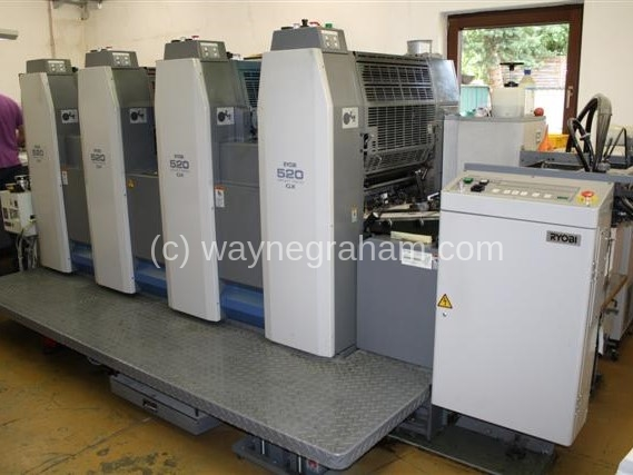 Foto von Gebrauchte Ryobi 524 GX Four Colour Printing Press