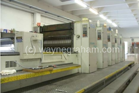 Image of Used Roland 705 3B TL Five Colour Printing Press With Coating Unit