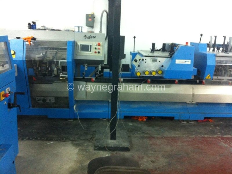 Image of Used Muller Martini Valore Gatherer Stitcher Trimmer For Sale