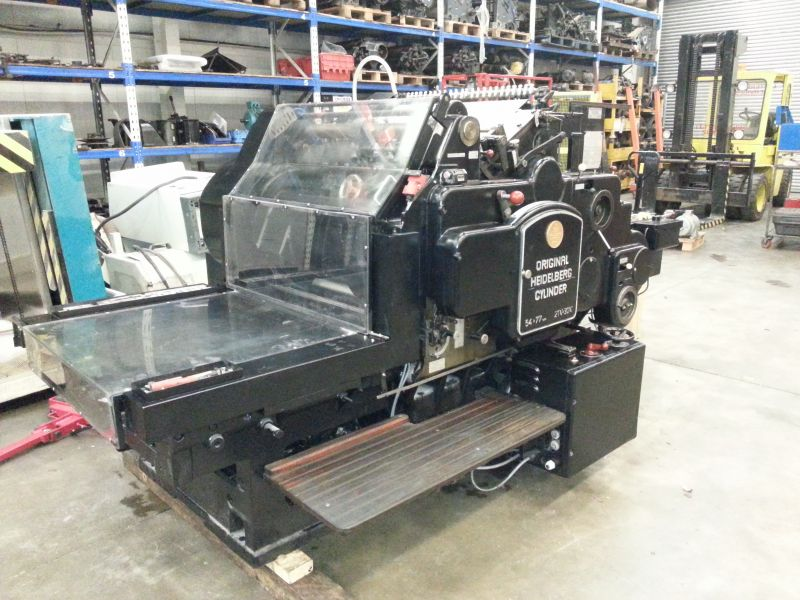 Image of Used Heidelberg SB Cylinder Converted For Cutting And Creasing For Sale