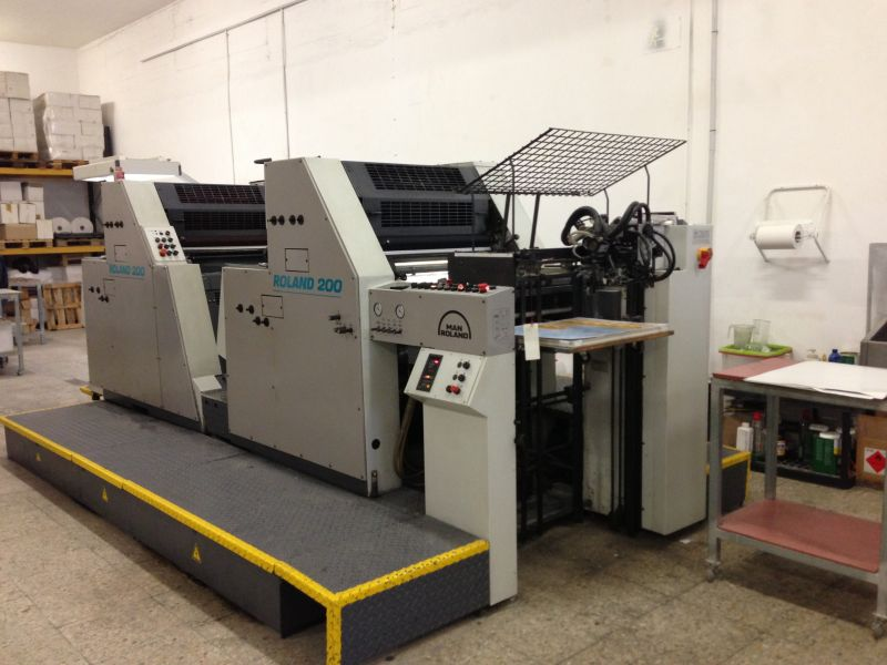 Image of used Roland 204 TOB printing press