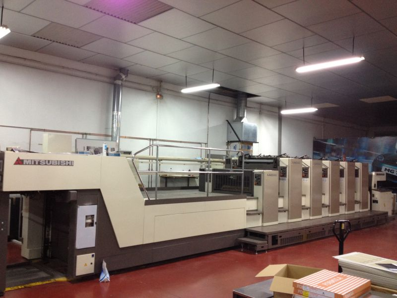 Image of used Mitsubishi Diamond 3000-LS-5+L printing press