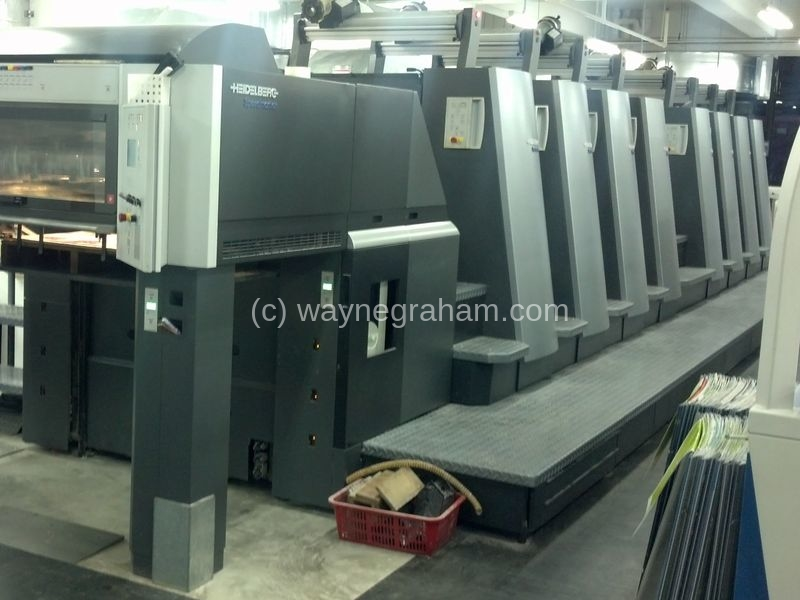 Image of Used Heidelberg Speedmaster CD 74-8-P-H Eight Colour Printing Press For Sale