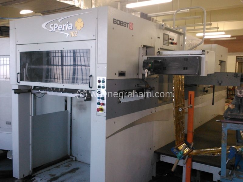 Image of Used Bobst SPeria Foilmaster 102 Hot Foiling Machine For Sale