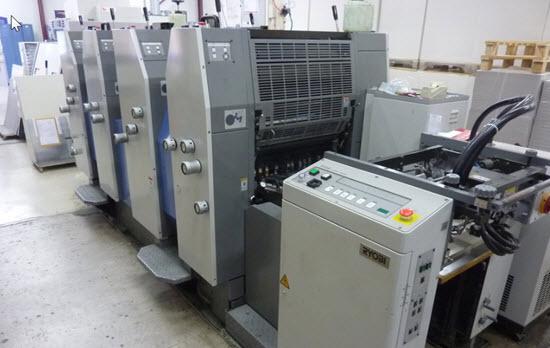 Image of used Ryobi 524HE printing press.