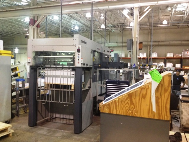 Image of used Bobst SP 102-E die cutter