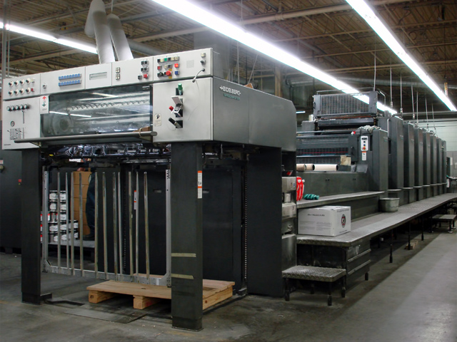 Image of used Heidelberg Speedmaster 102-7-P+LX printing press