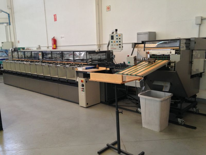 Image of used Theisen & Bonitz Sprint 303 QSM Gatherer Stitcher Trimmer Line For Sale