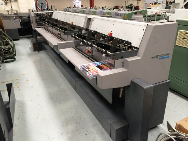 Image of used Heidelberg Prosetter 562 gatherer, stitcher, trimmer