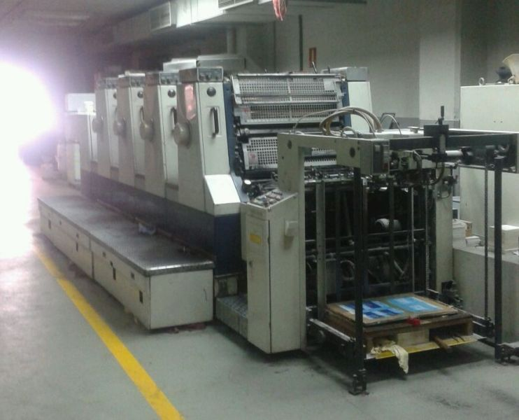 Image of Used Komori Lithrone 428 EM Four Colour Printing Press For Sale