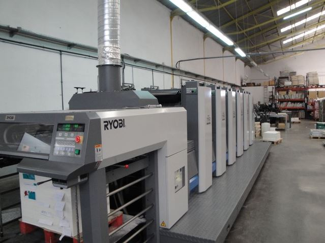 Image of used Ryobi 756 printing press