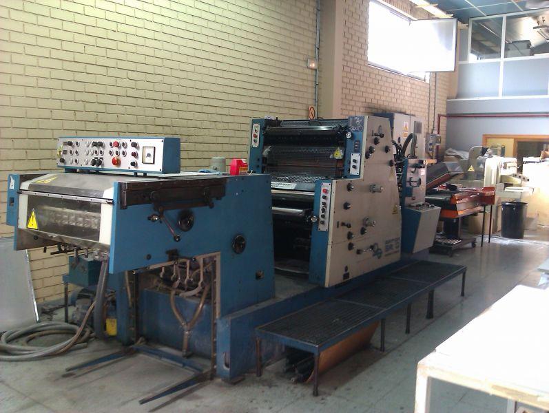 Bild des verwendeten KBA SR O-2K Druckmaschine