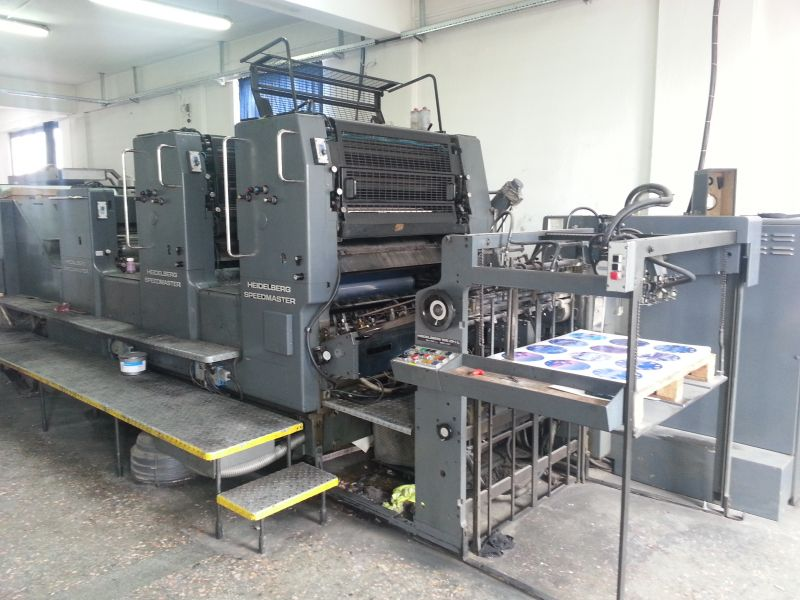 Image of used Heidelberg Speedmaster 102 ZP-L printing press