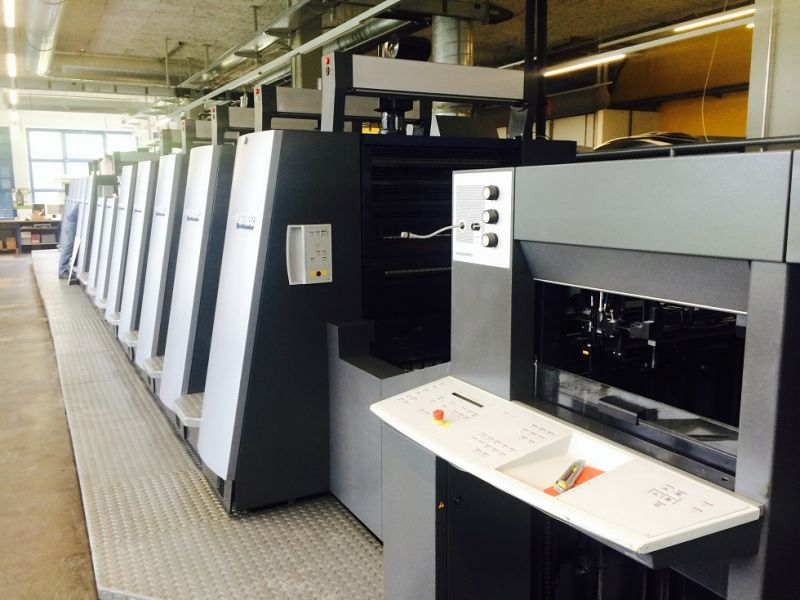 Image of Used Heidelberg Speedmaster CD 74-5-LY-5-P-LX Printing Press For Sale.