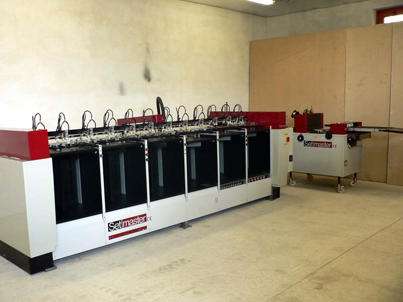 Image of Used Setmaster Collator Gatherer Stitching Line For Sale