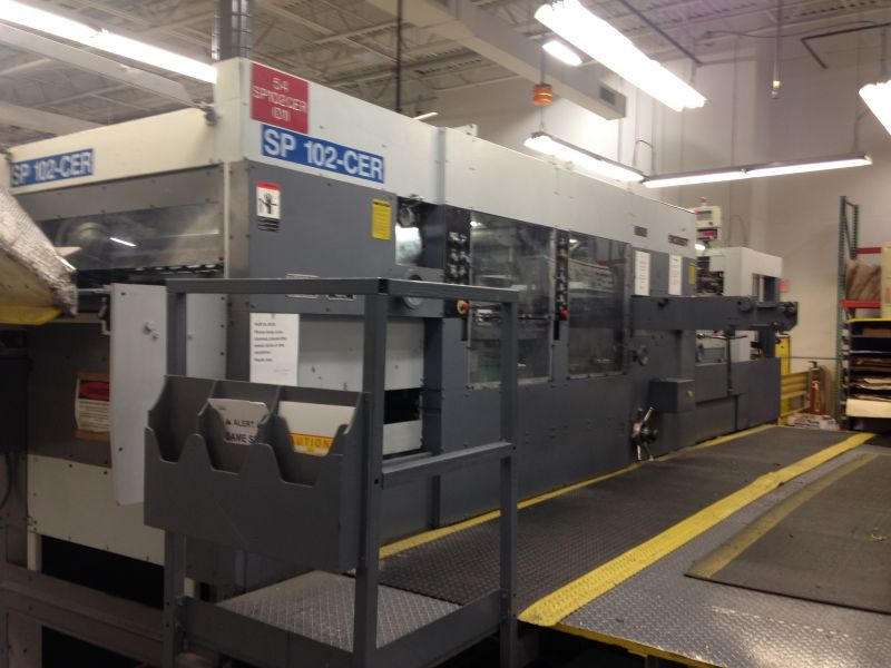 Image of Used Bobst SP 102-CER Die Cutter For Sale
