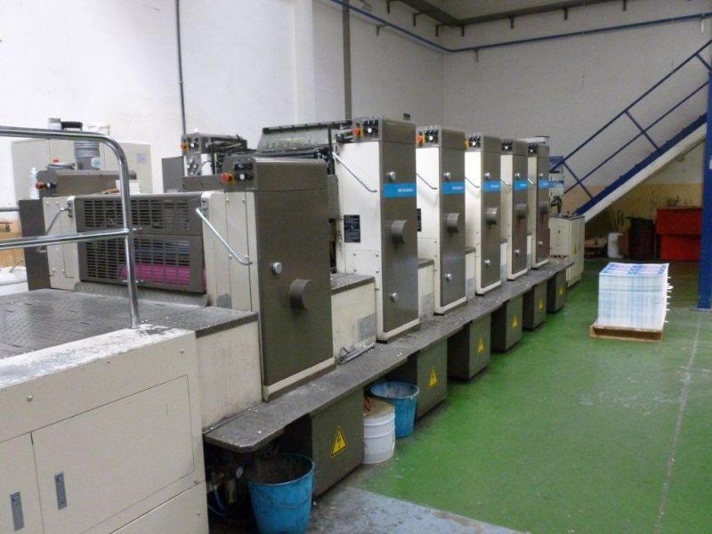 Image of Used Mitsubishi 1G-5+L Printing Press