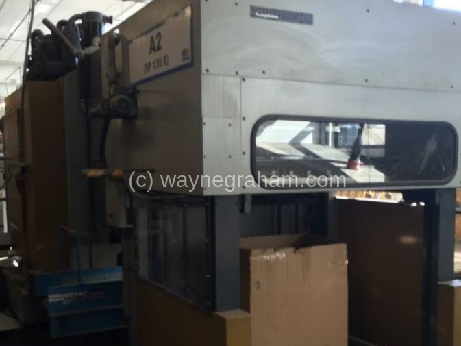 Image of Used Bobst SP 130-E Die Cutter With Stripping Unit For Sale