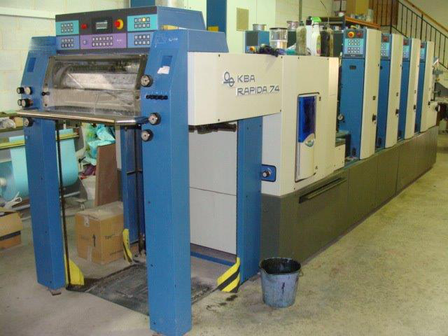Image of Used KBA Rapida 74-4 Printing Press For Sale