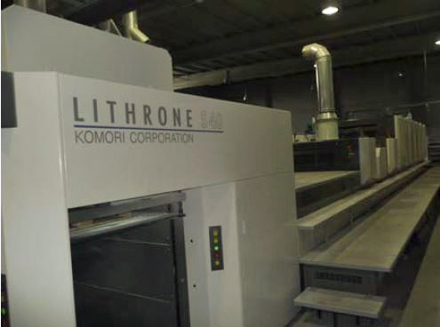 Image of Used Komori Lithrone S 640+C+C Six Colour Printing Press With Two Coaters For Sale