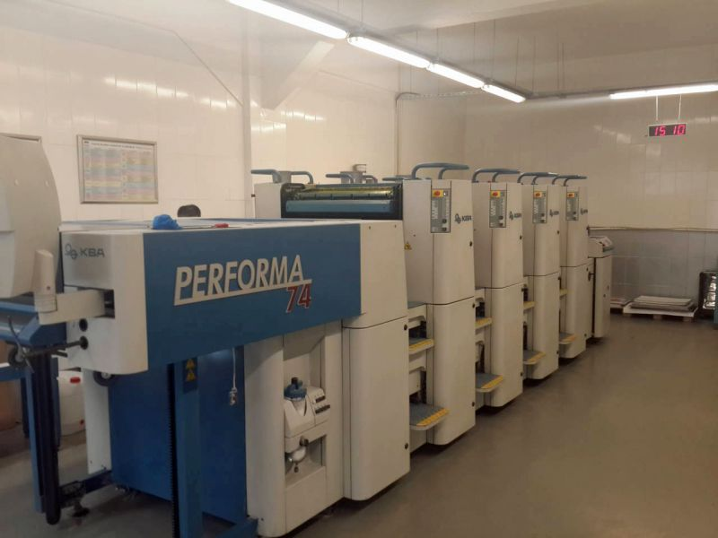 Image of Used KBA Performa 74-4 Four Colour Printing Press For Sale