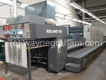 Image of Used Roland 706 3B TL Six Colour Printing Press With Coating Unit