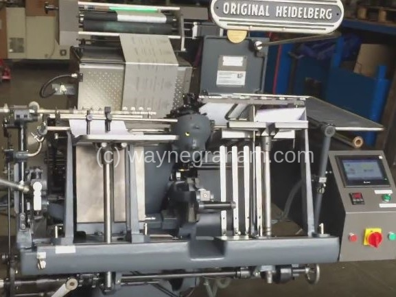 Image of Used Heidelberg GT Platen Hot Foiling Machine For Sale