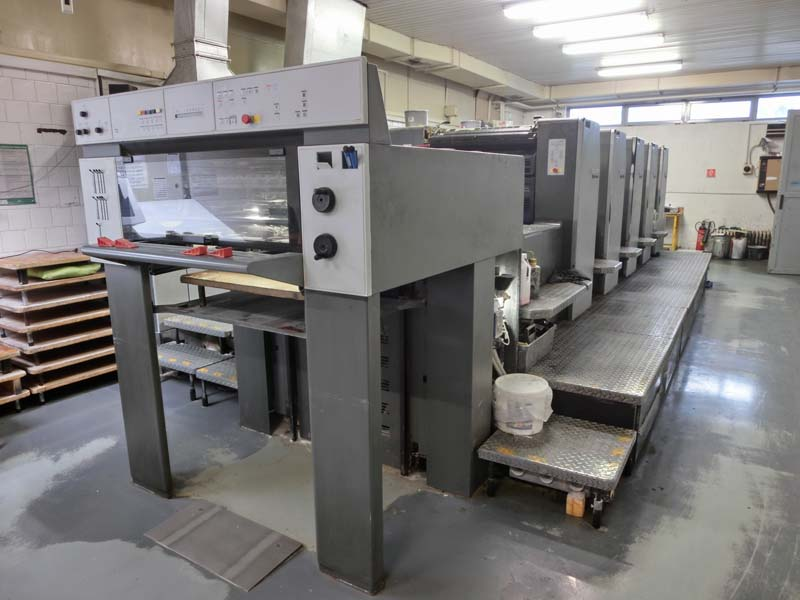 Image of Used Heidelberg SM 74-5-H Five Colour Printing Press For Sale