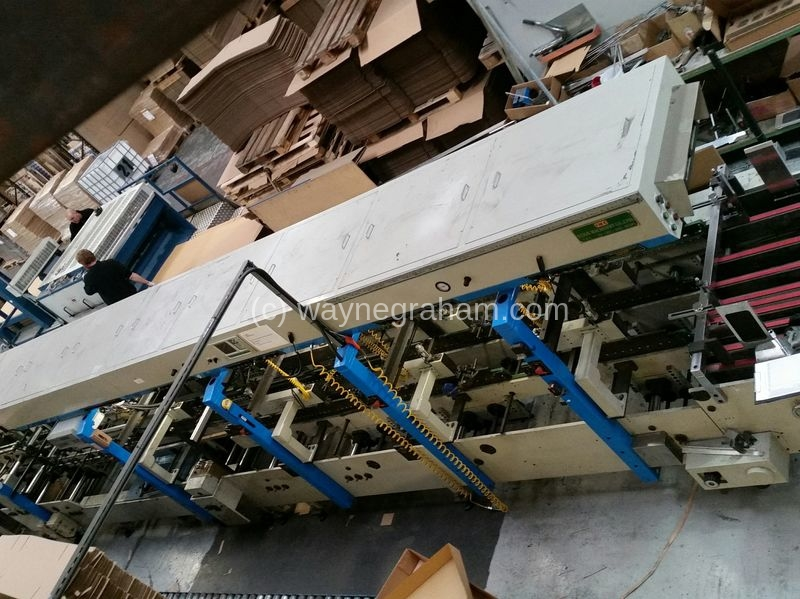 Image of Used IMC Kukje MAX 1300 Corrugated Folding Carton Gluer For Sale