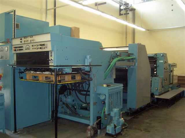 Image of Used Roland Rekord RZK 3B+L Two Colour Printing Press With Coater For Sale