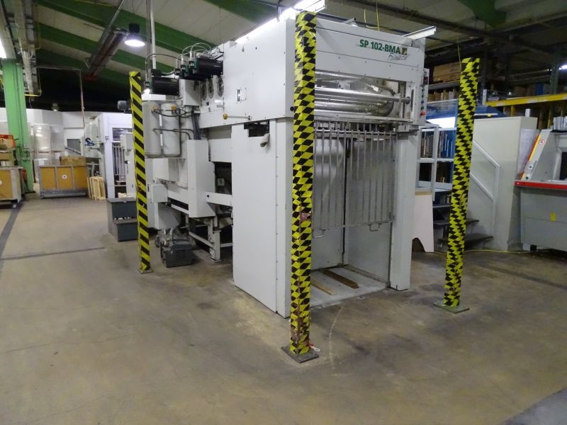 Image of Used Bobst SP 102-BMA Foilmaster Hot Foiling Machine For Sale