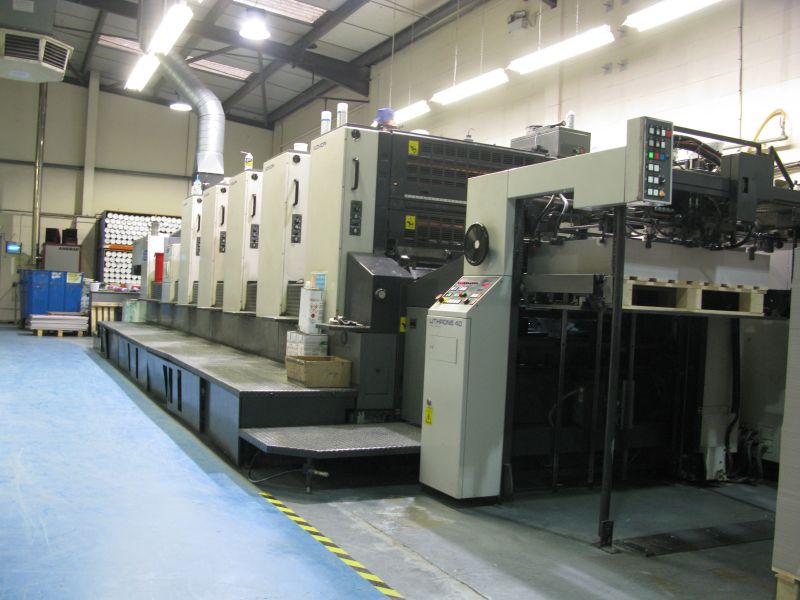 Image of Used Komori Lithrone 540+C Five Colour Printing Press With Coater