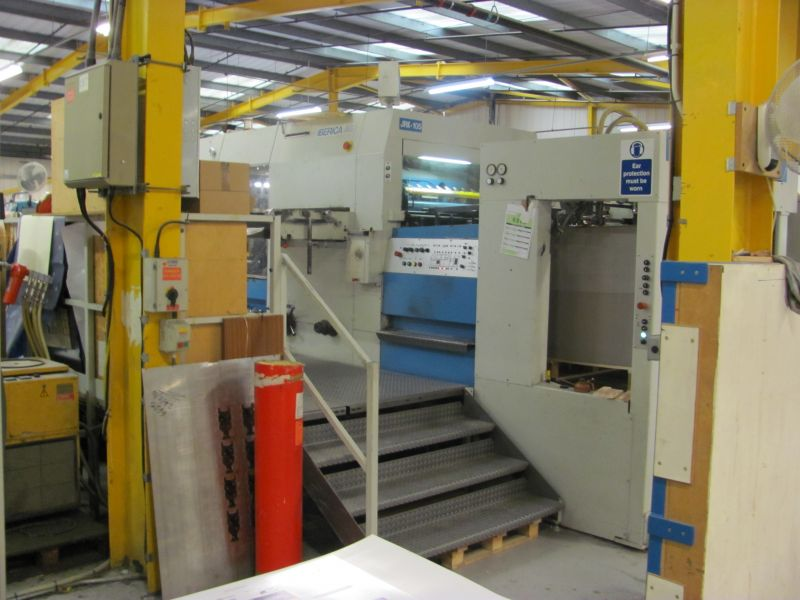Image of Used Iberica JRK-105 Die Cutter With Stripping And Blanking Units For Sale