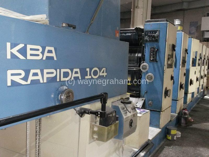 Image of Used KBA Rapida 104-6 Six Colour Printing Press For Sale