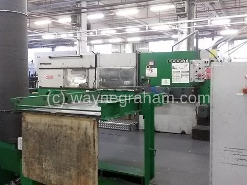 Image of Used Bobst SPO 1600 Corrugated Die Cutter With Stripping Unit For Sale