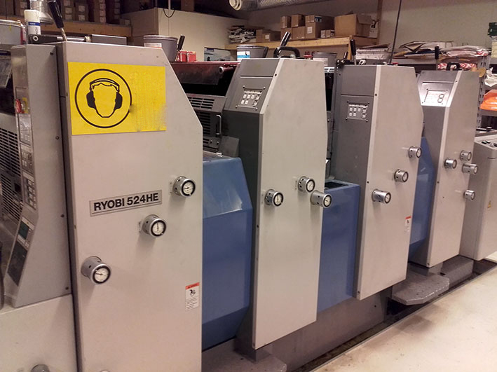 Image of Used Ryobi 524 HE Four Colour Printing Press For Sale