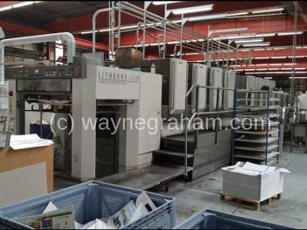 Image of Used Komori Lithrone S 840 P Eight Colour Printing Press For Sale