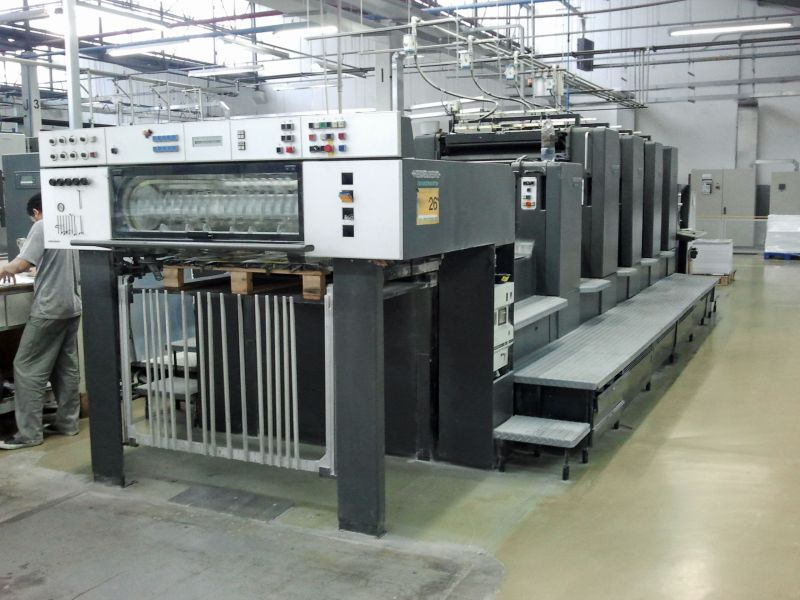 Image of Used Heidelberg SM 102-4-P-L Four Colour Printing Press With Coater For Sale