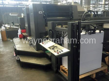 Image of Used Heidelberg SM 102-2-P Two Colour Printing Press For Sale