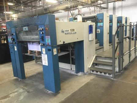 Image of Used KBA Rapida 105-4 Four Colour Printing Press For Sale