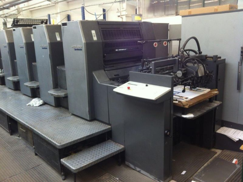 Image of Used Heidelberg SM 74-5-P-H Five Colour Printing Press For Sale