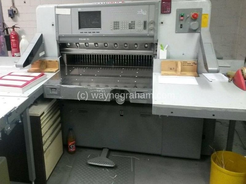 Image of Used Polar 92 ED Guillotine For Sale
