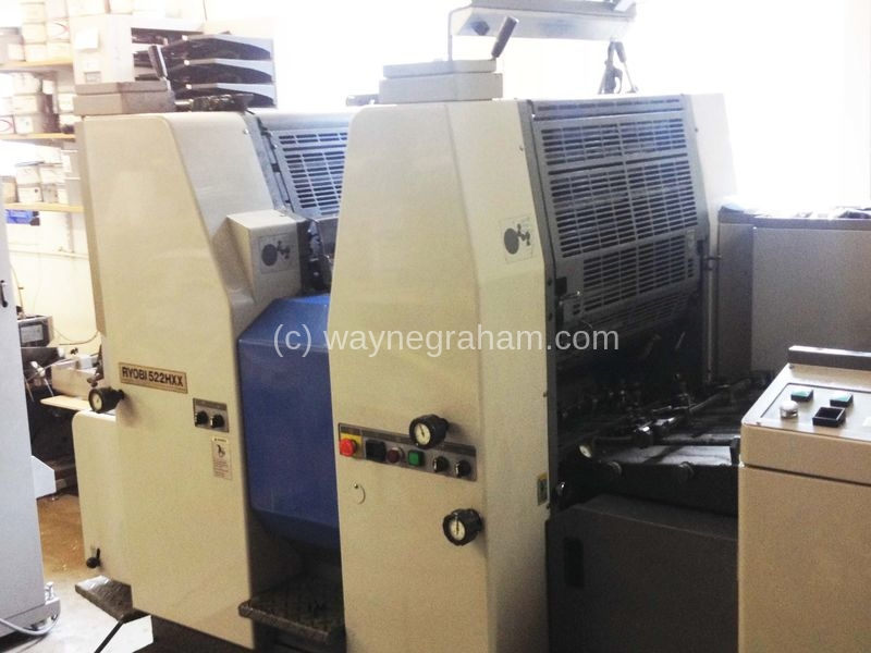 Image of Used Ryobi 522 HXX Two Colour Printing Press For Sale