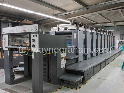 Image of Used Heidelberg Speedmaster 74-10-P-H Ten Colour Printing Press With Image Control For Sale