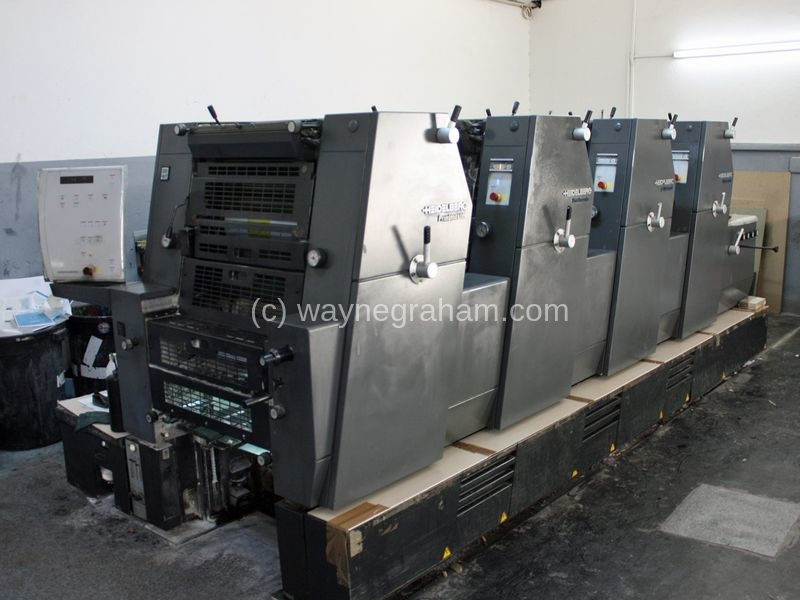 Image of Used Heidelberg Printmaster GTO 52-4 Four Colour Printing Press For Sale
