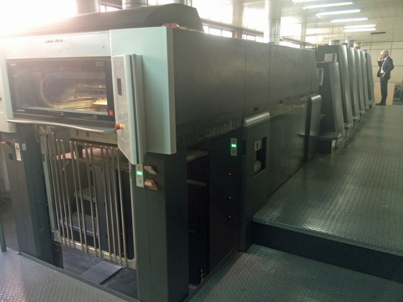 Image of Used Heidelberg Speedmaster CD 74-5-P-LX Five Colour Printing Press With Coating Unit For Sale