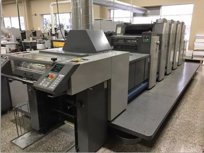 Image of Used Ryobi 524 GX+L Four Colour Printing Press With Coating Unit For Sale