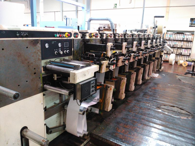 Image of Used Nilpeter FA-2500 Flexographic Label Web Press For Sale
